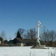 Wayside cross in Vologda region