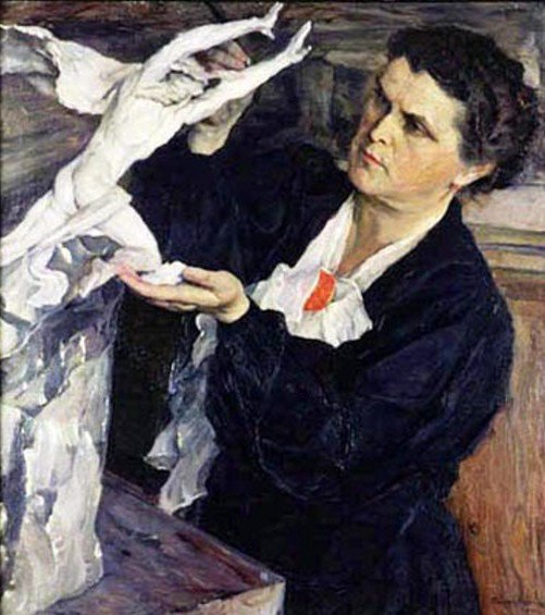 Portrait of Vera Mukhina by Mikhail Nesterov. 1940