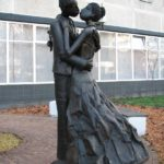 Romantic couples and Love monuments