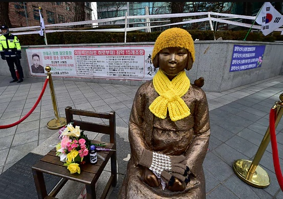 Teenage girl as comfort woman statue