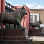 Mysterious Bronze Bulls created by Vasily Demut-Malinovsky