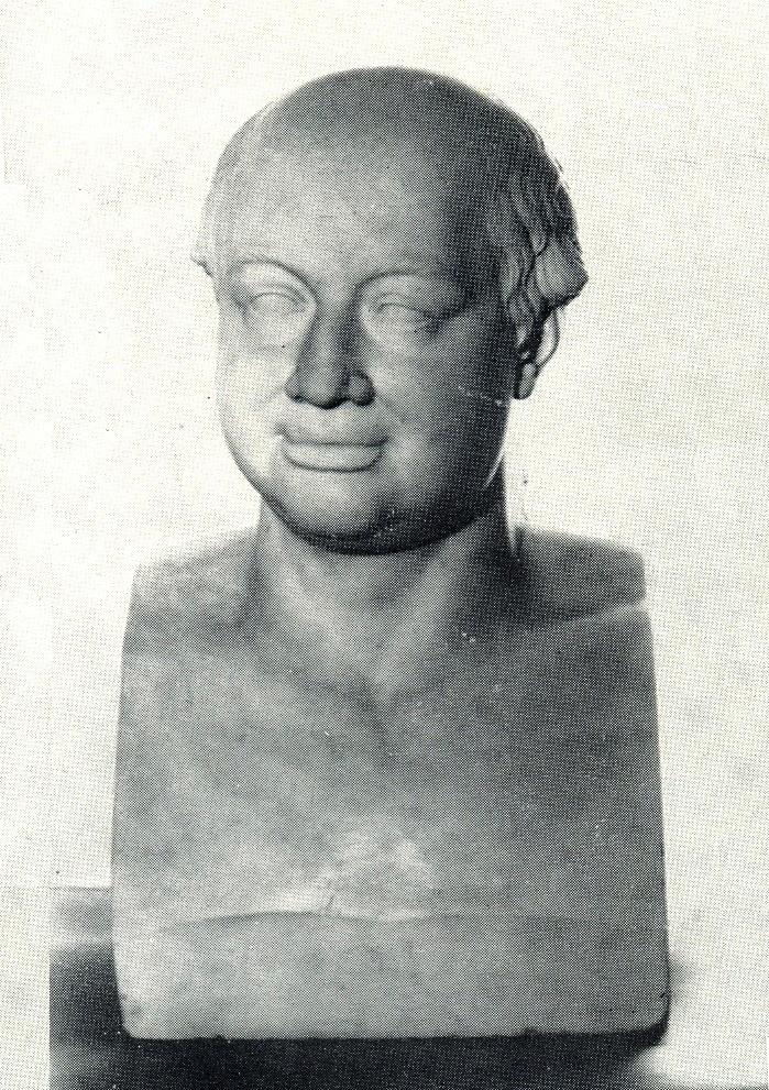 Bust of M.V. Lomonosov. 1821