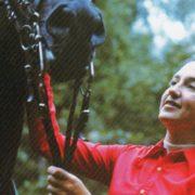 Elena Vladimirovna Petushkova with her faforite horse Pepel