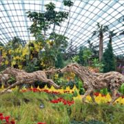 Galloping horses - The Flower Dome greenhouse