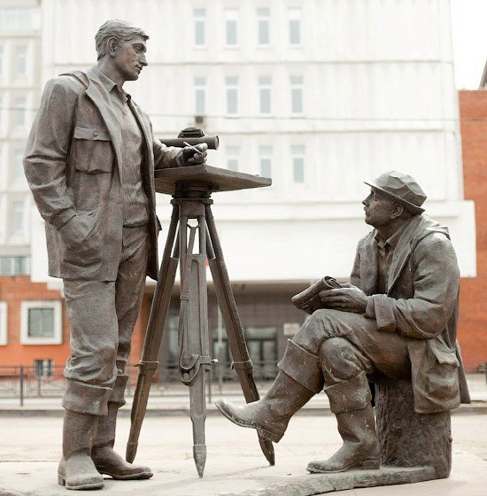 Geologists monument in Irkutsk, Geologists pioneers monuments in Russia