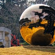 Magic ball glass sculpture