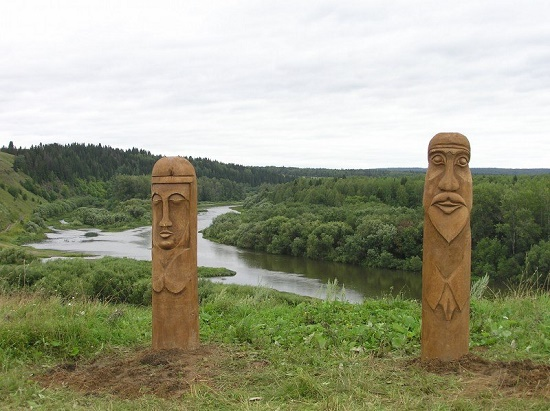 Perm region Wooden idols
