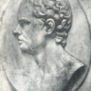 Portrait of M.I. Kozlovsky. Bas-relief of the tombstone. 1802