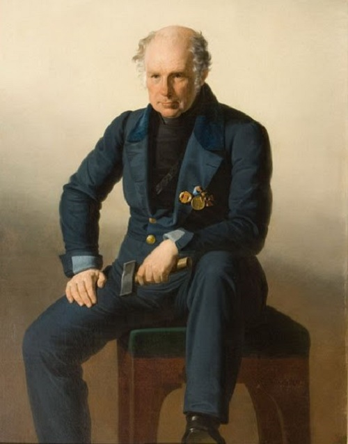Realistic Portrait of V.I. Demut-Malinovsky painted by an unknown artist before 1846