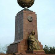 Tashkent, Uzbekistan. Sculptors Ilkhom and Kamol Jabbarov