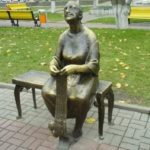 Knitting grandmother monument