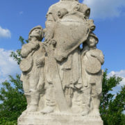 A monument on the territory of the castle