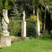 Columns with sculptures
