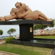 Lima, Peru. Monument to kissing lovers