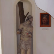 Lots of paintings and sculptures inside the castle