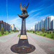 Novokuznetsk, Kemerovo region. Stork monument