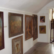 The author of some of these paintings was Bory's wife, prominent artist