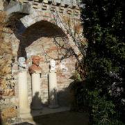 Three busts on the column