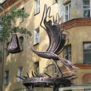 Voronezh monument to stork