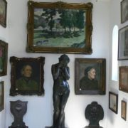Works of art - paintings decorate the walls