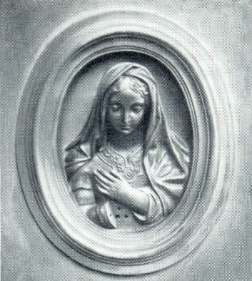 A.R. Bock. The tomb of PA Dubovitsky, Fragment. After 1868. Granite, bronze. Moscow, Necropolis of the Donskoi Monastery