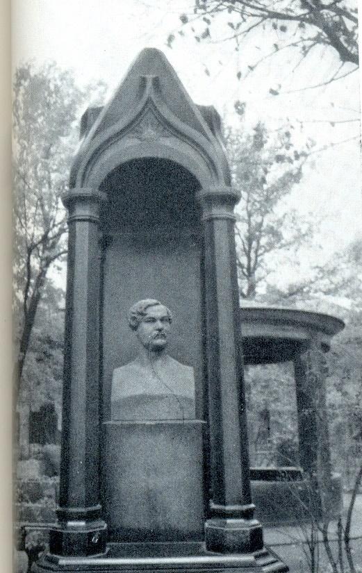 AI Terebenev. Gravestone of VA Karatygin. 1854. Granite, bronze. Necropolis of masters of arts. St. Petersburg
