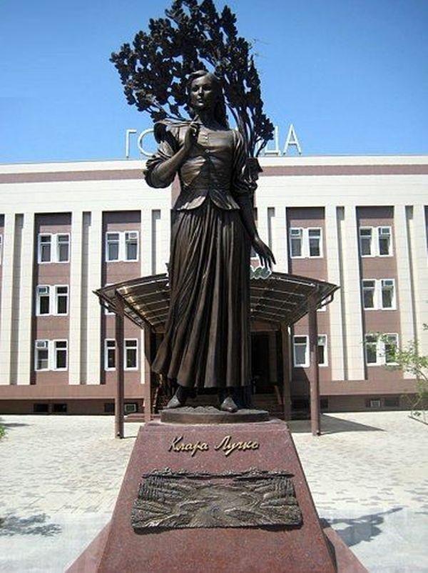 Actress Klara Luchko, monument in Krasnodar of Russia