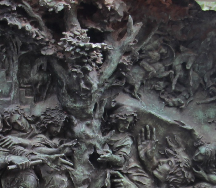 Cemetery monument to Vyacheslav Tikhonov, detail
