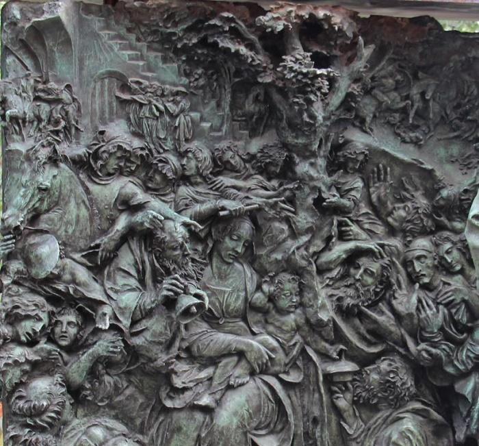 Fragment of monument to Vyacheslav Tikhonov