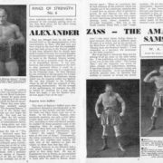 Newspaper article about athlete Alexander Zass