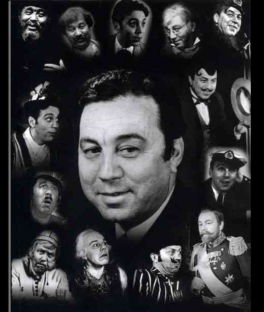 Photo collage - roles of Mikhail Vodyanoi