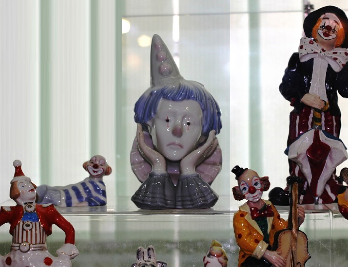 Porcelain clowns