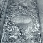 Prousenberger. Tombstone plate of MK Skavronsky. 1770s. Copper (chiselling). Petersburg. Annunciation burial vault of the Alexander Nevsky Lavra