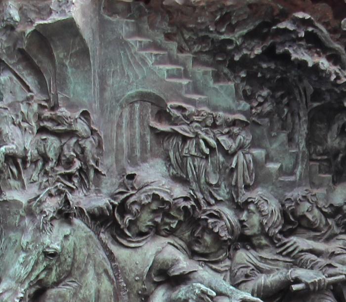 The fragment of monument to Vyacheslav Tikhonov