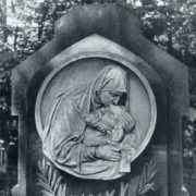 V. A. Kafka. Döder's tombstone. Fragment. After 1900. Marble, granite. Moscow, Vvedenskoe cemetery