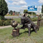 Belgorod, Russia. Monument to Kolobok