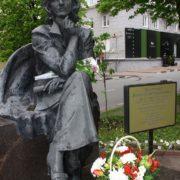 Flowers for Soviet TV star Valentina Leontieva
