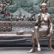 Installed in the summer of 2011 in France monument of M. Tsvetaeva (sculptor Zurab Tsereteli)