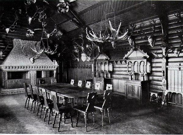 Interior of hunting house of Kaiser Wilhelm II