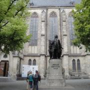 Johann Sebastian Bach, the most famous blind, whose monument is near the Church of St. Thomas in Leipzig
