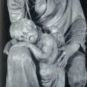Work by sculptor M.I. Kozlovsky. Gravestone of SA Stroganova. Fragments. 1802. Marble. Lazarevskaya tomb of the Alexander Nevsky Lavra. St. Petersburg