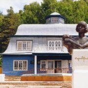 The first monument of M. Tsvetaeva (sculptor Yuri Soldatov) installed in 1992 in Bashkortostan, in the village of Usen-Ivanovo