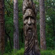 Wood keeper, sculpture by Evgeny