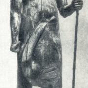 Wooden statue of Prince Kaaper, known as 'village head'