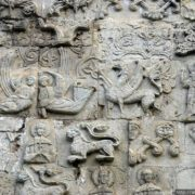 An abudance of reliefs on the walls of St. George's Cathedral in the city of Yurievsk-Polsky