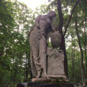 Grieving woman sculpture