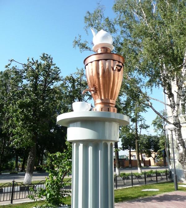 Kungur, Perm krai, Russia. Monument to Samovar