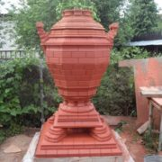 Made of brick samovar