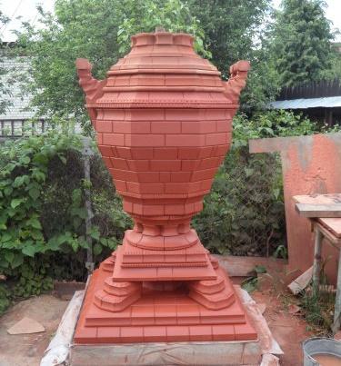 Made of brick samovar