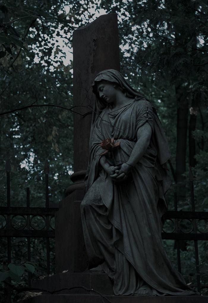 Moscow, Vvedensky Cemetery grave monument